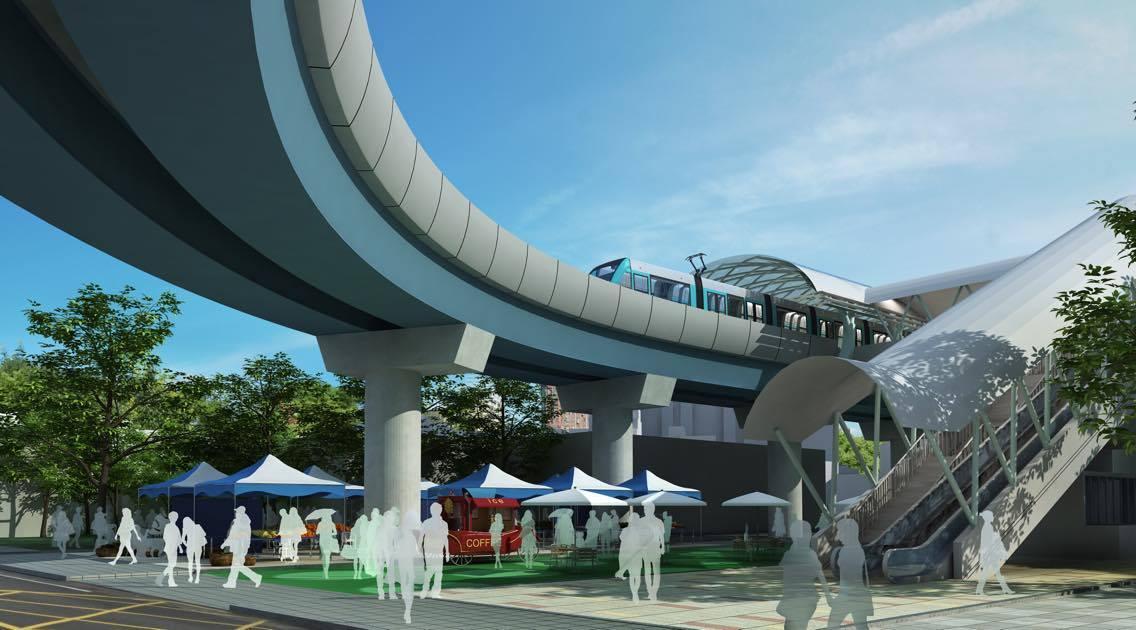 K8未來建成示意圖。圖片來源/新北市捷運工程局