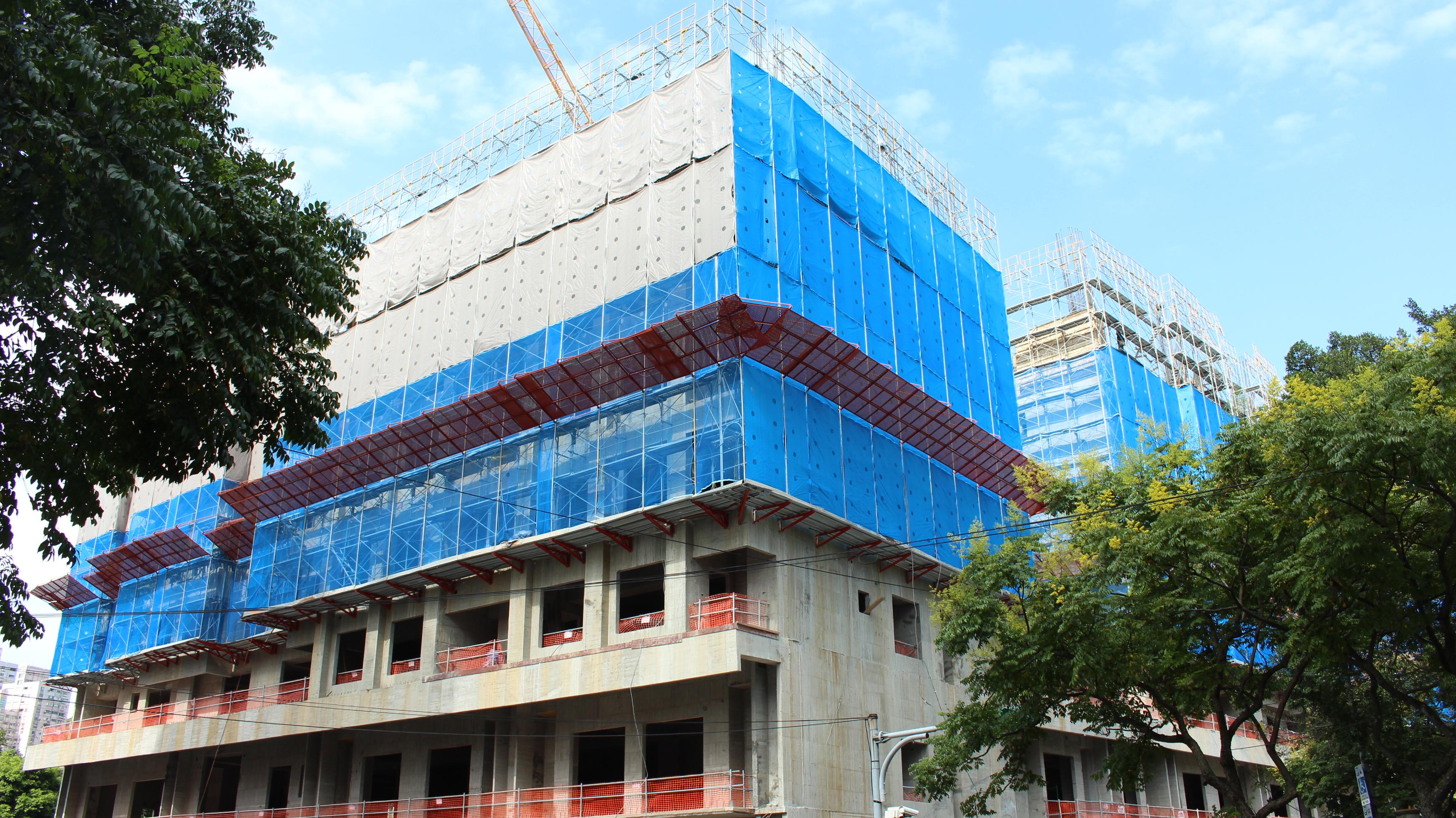 興建中的興隆二區公宅全貌。