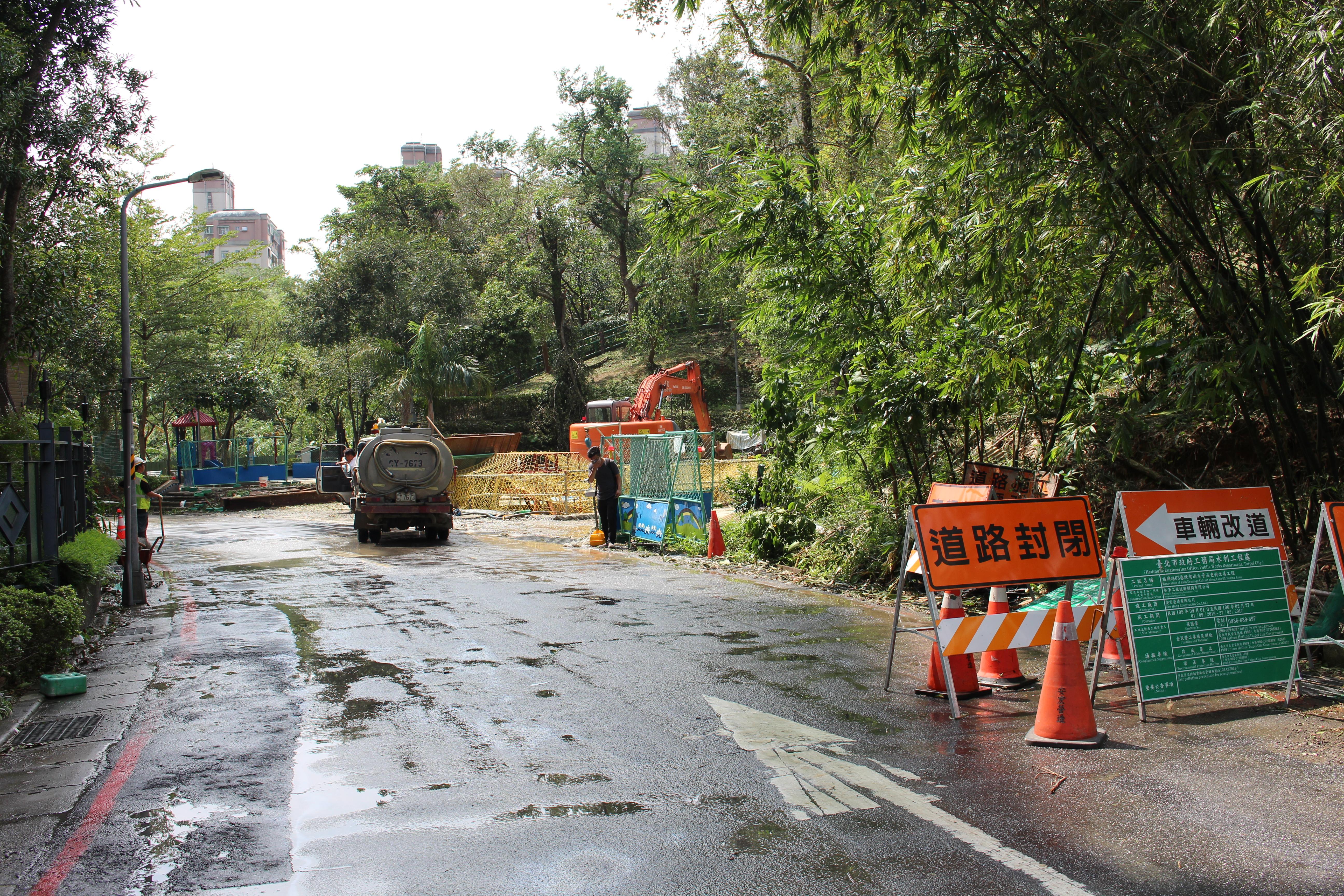 福興路排水防洪工程預定明年四月完工。