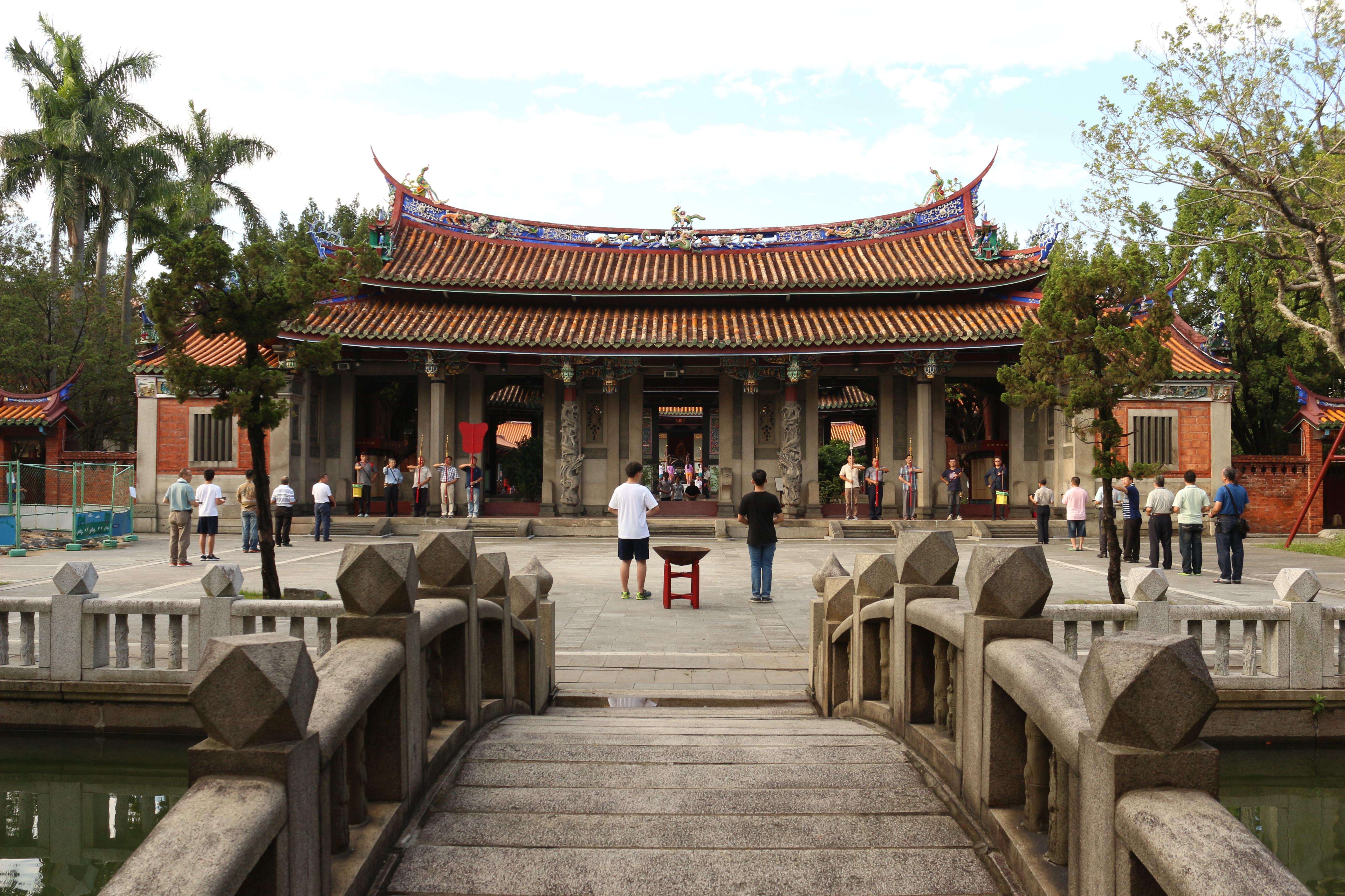 台北市孔廟為國定三級古蹟,每年的9月28日孔子誕辰都會舉行祭孔大典。