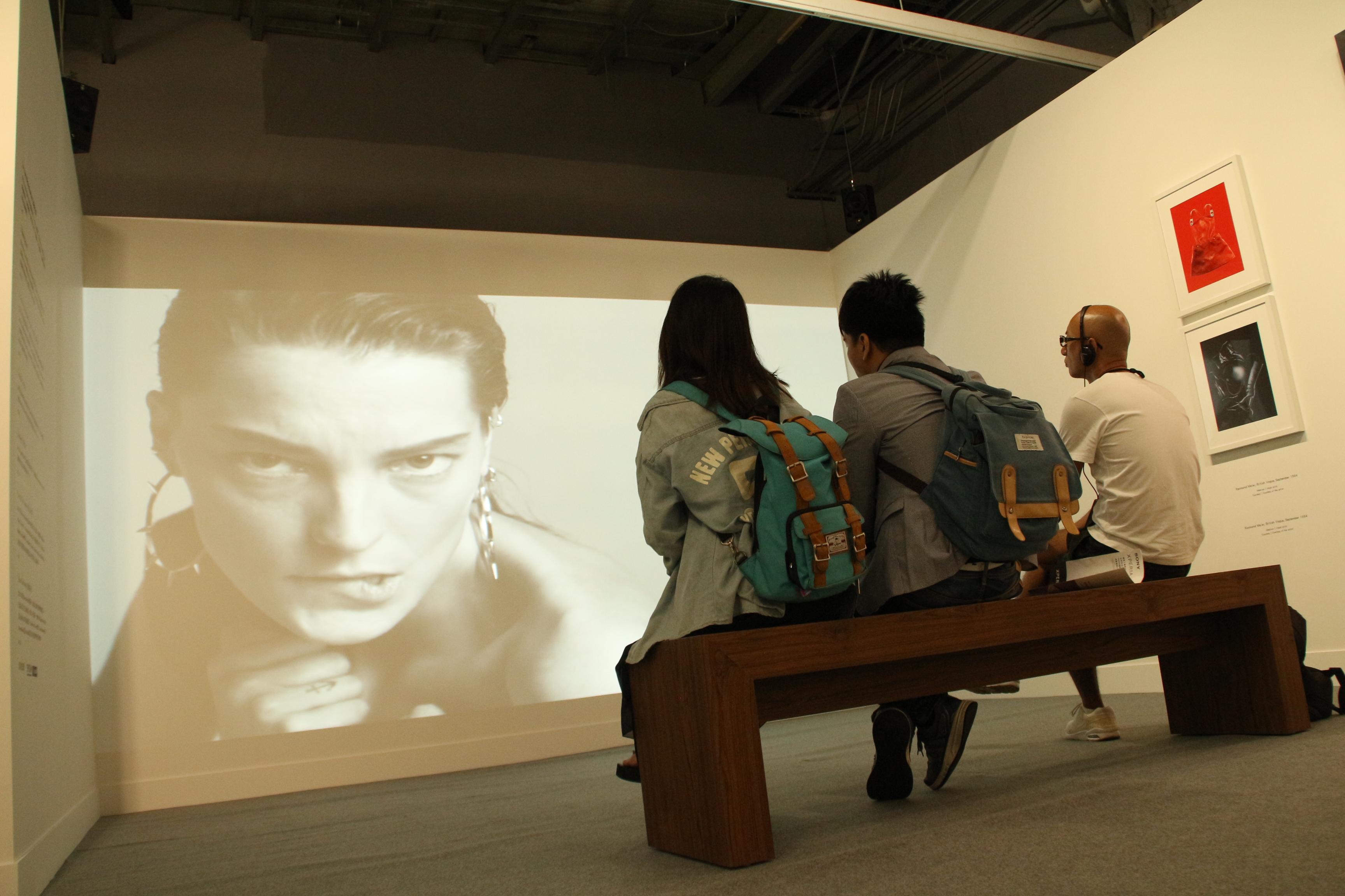 展場內的影音區,帶觀眾回溯Vogue輝煌歷史 攝影/ 翁悅心