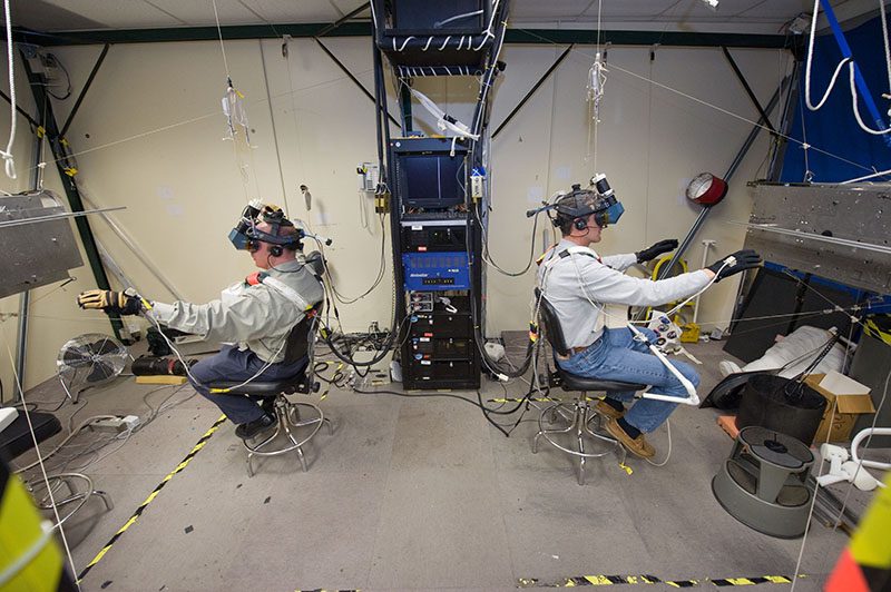 NASA利用VR訓練太空人。圖片來源/unimersiv