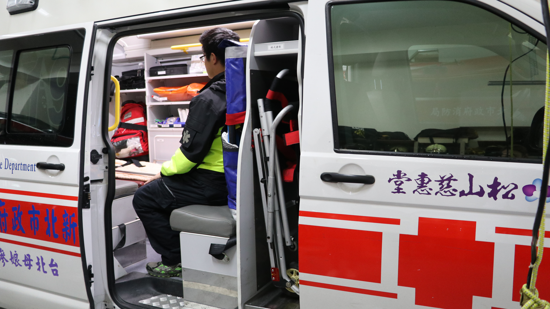 此救護車為松山慈惠堂捐贈。 攝影/周宛蓁