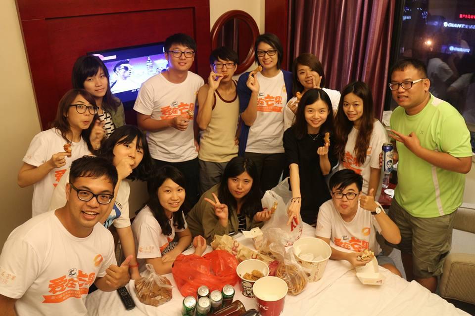 與大學生一起前往大陸湖南廣電隨團採訪。圖片提供/葉書宏