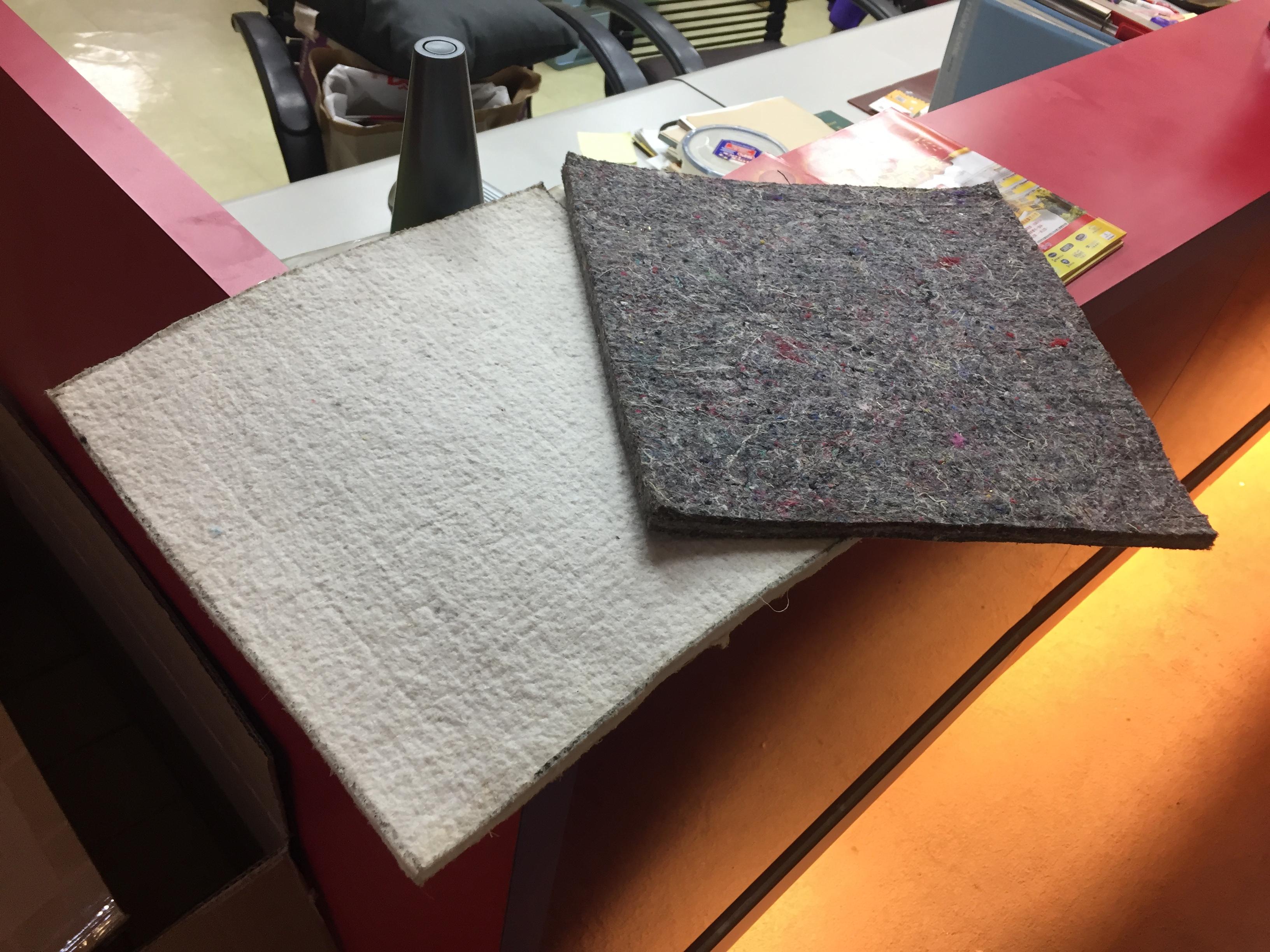 針扎棉層分為純天然棉花與回收線頭重製的棉層