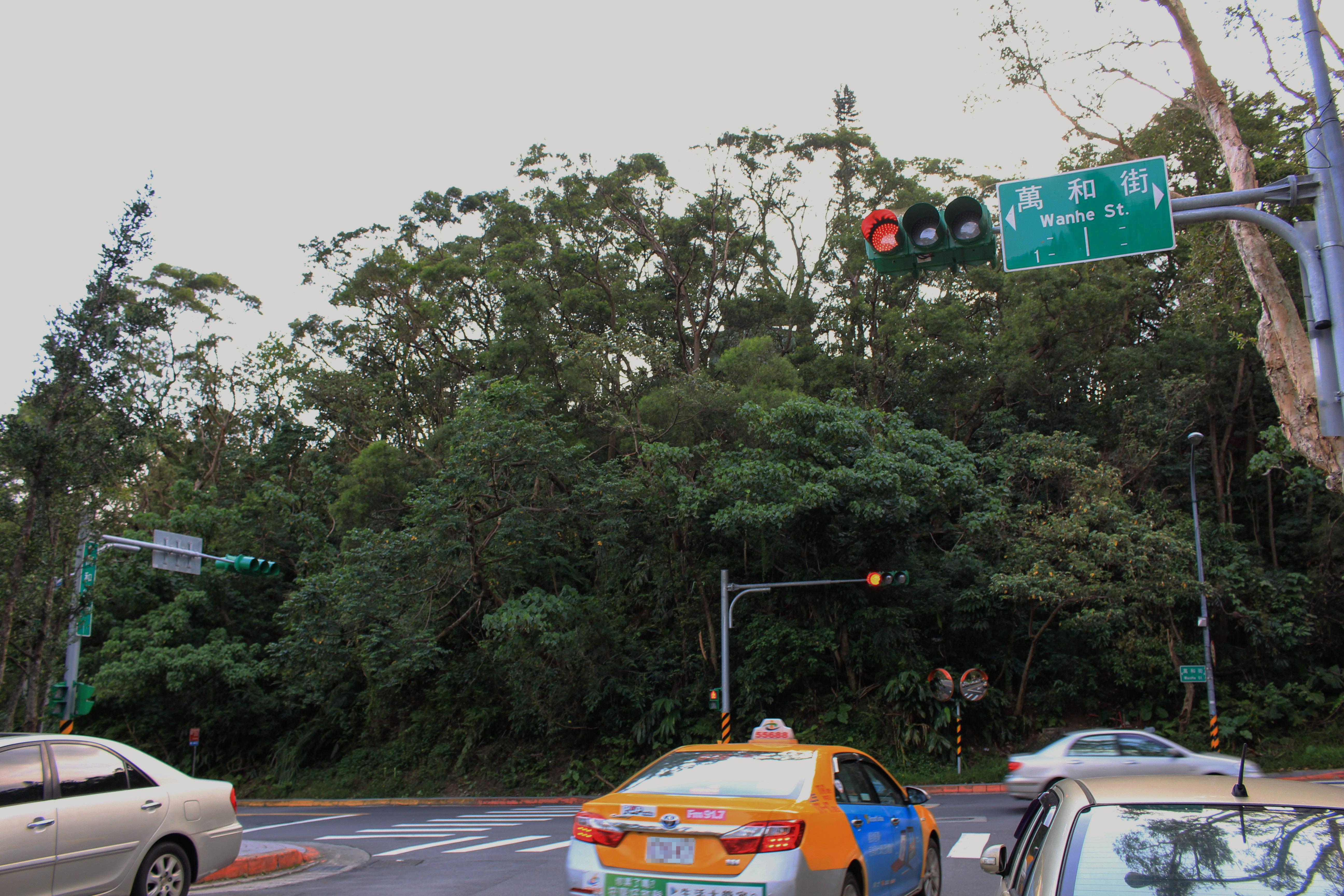 未進入管制時間的T字路口,行人過馬路要自行注意來車。攝影/郭育伶
