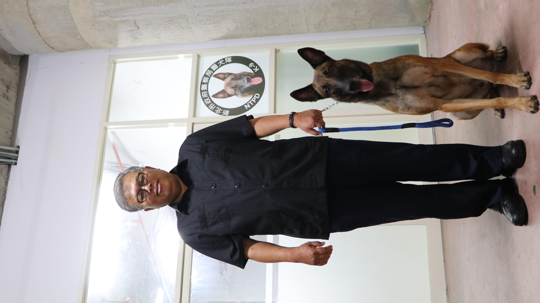 警犬隊隊長盼能增加隊上資源,圖為警犬合影。攝影/周宛蓁