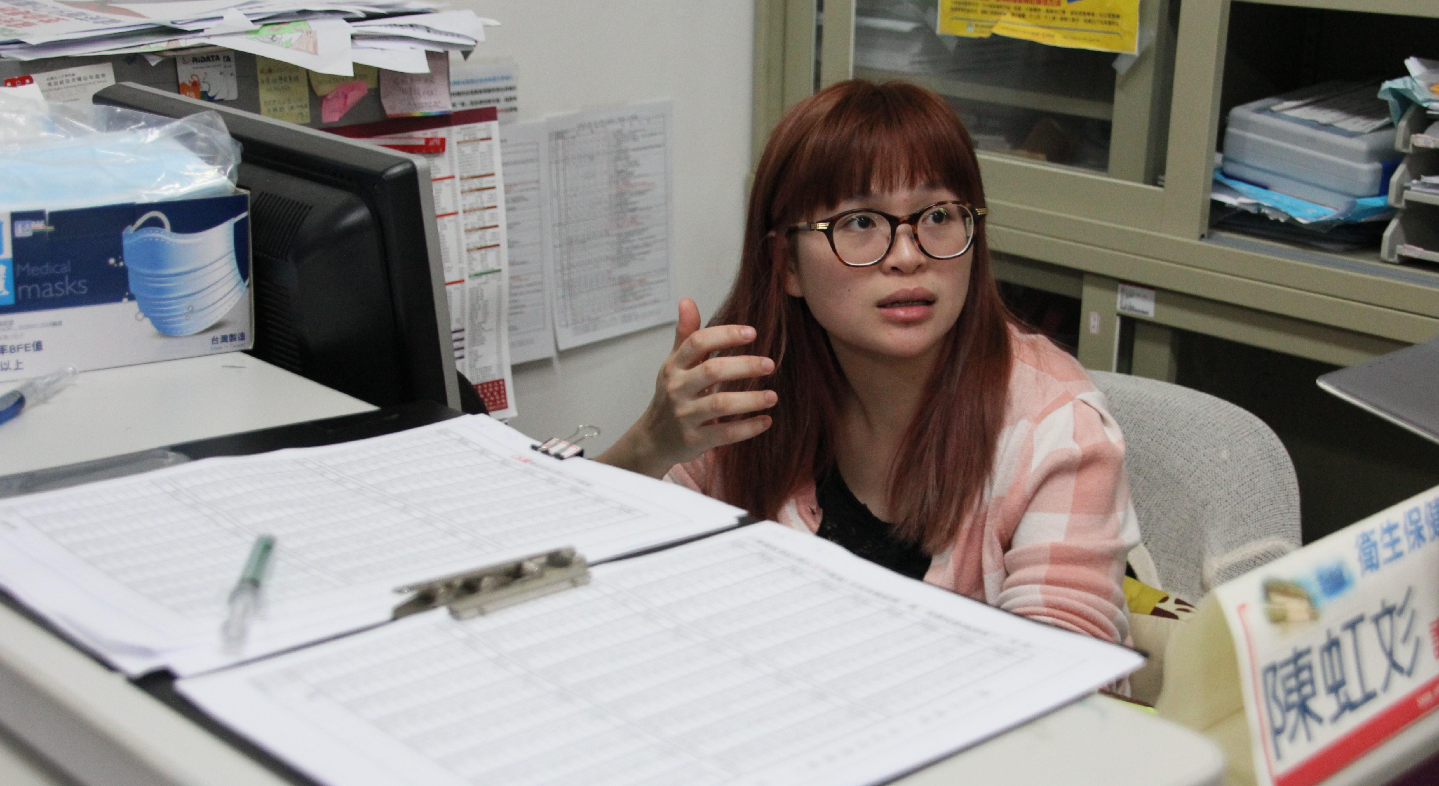 世新大學衛保組陳虹彣護理師。攝影/張友宣