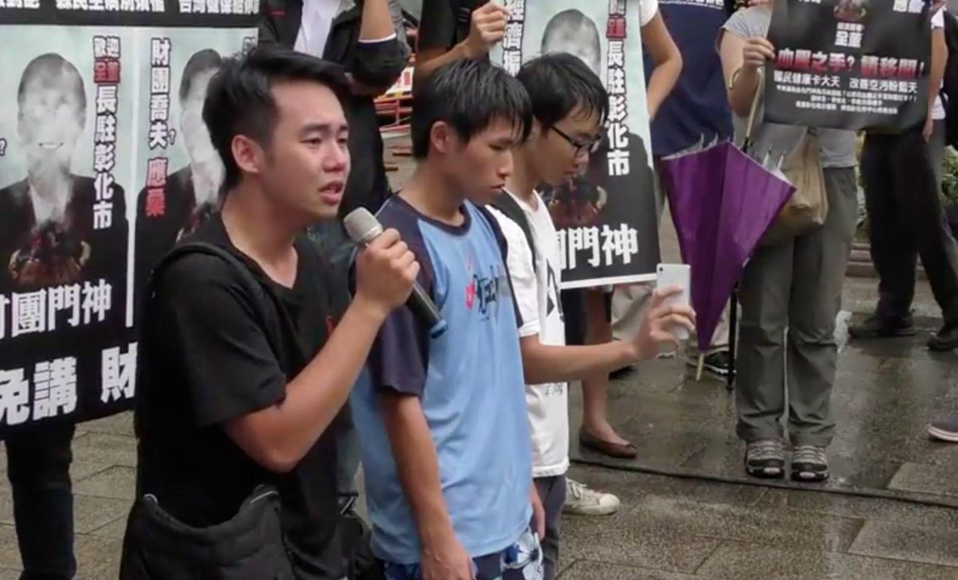 楊子賢(左一)常參加抗議活動。照片提供/楊子賢
