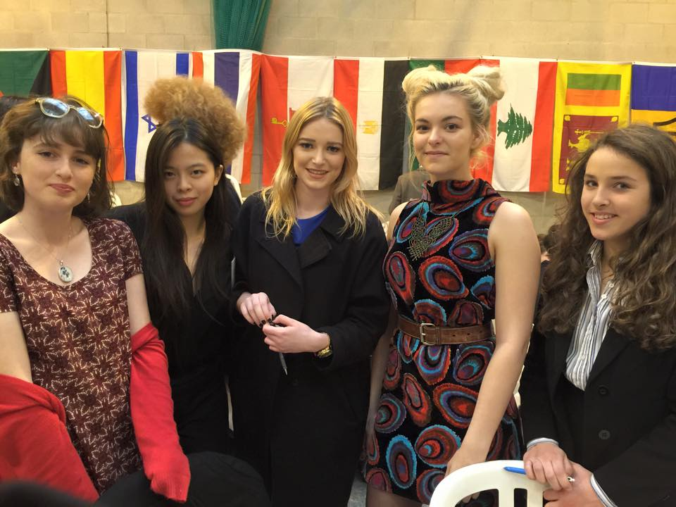 Lilliana Liu(right/2)has participated in the Model United Nation.