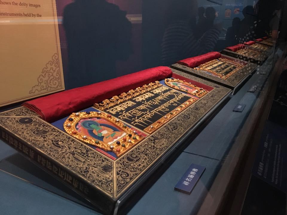藏傳佛教文物在故宮展出。攝影/莊立誠