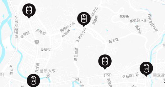文山區目前設置的四個換電站