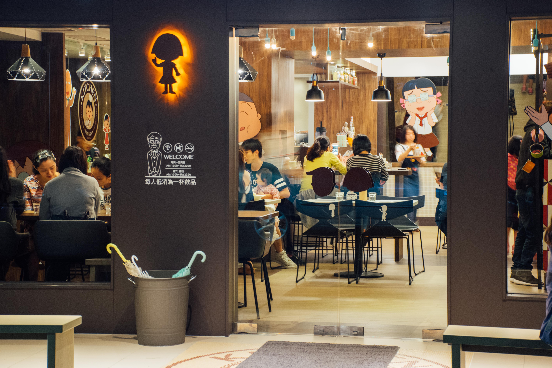 餐廳與原作者的溝通和磨合,讓卡通人物得以在現實生活中現身。攝影/潘姿穎