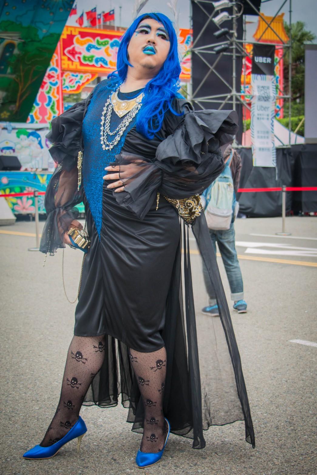 Davi Wei said that she loves dark and devil style.Photo/Hsieh, Pei-yu(謝珮瑜)