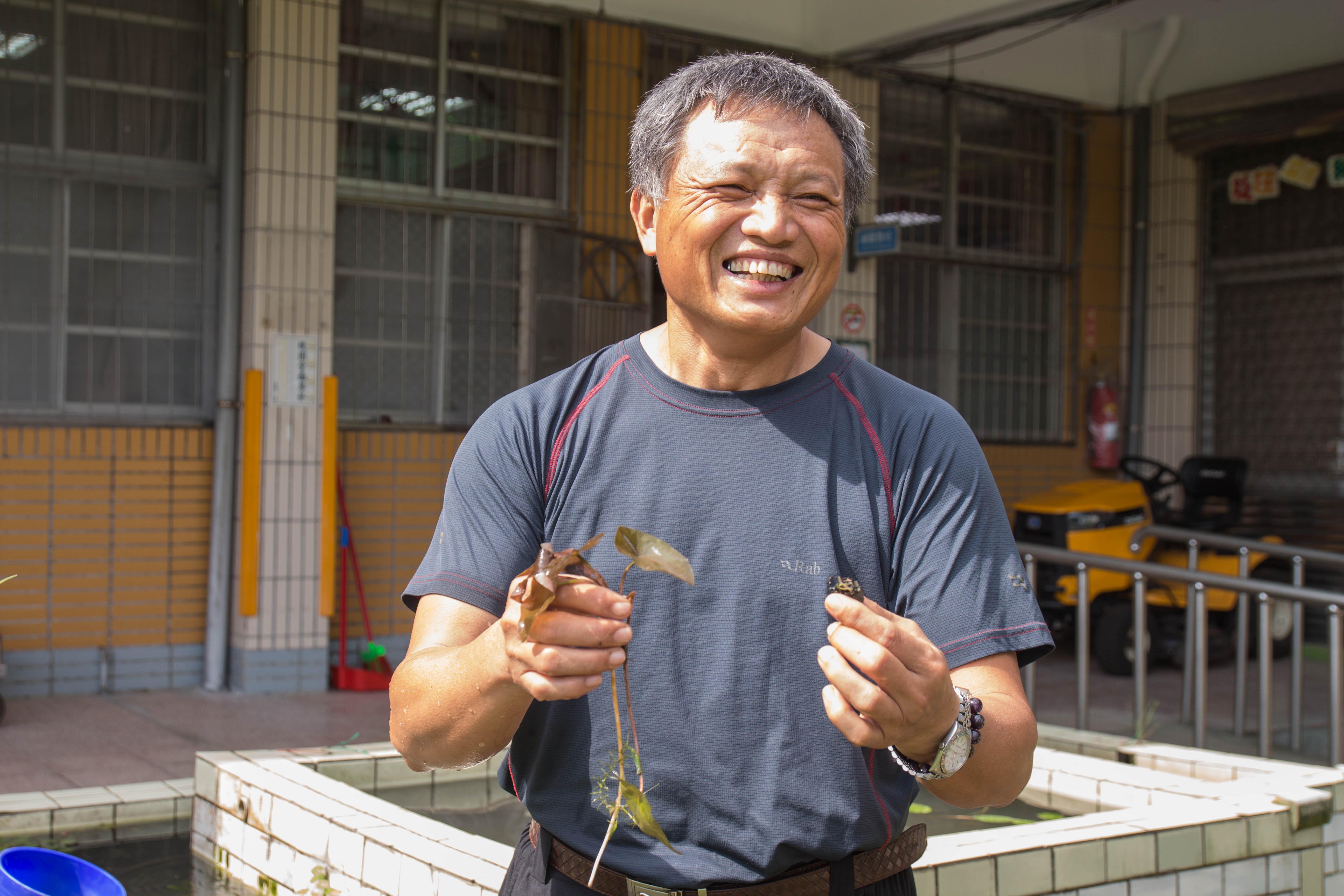 上林國小校長乃瑞春,將對大自然的熱愛延續到教學方針。 攝影 高子涵