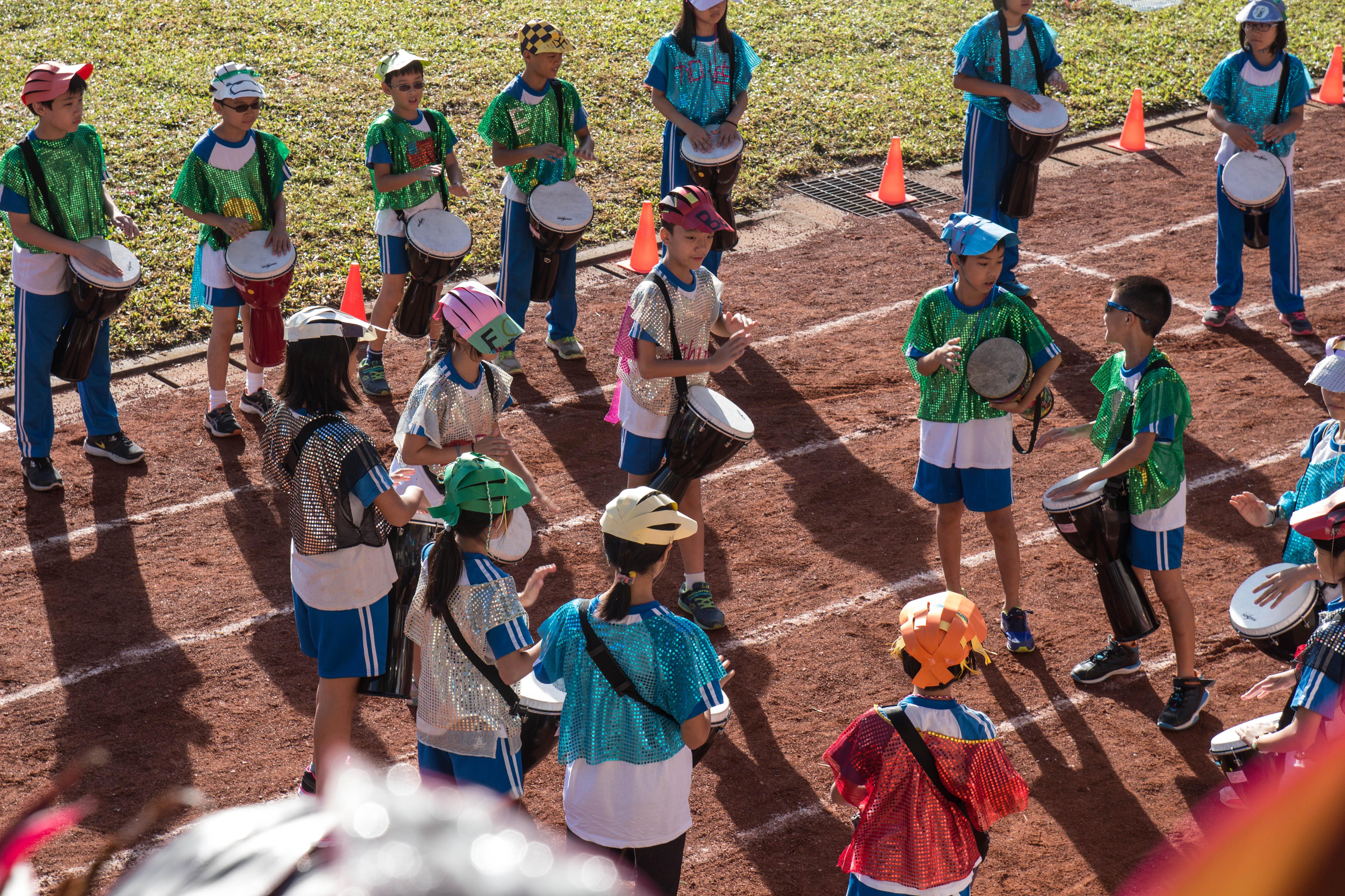 透過跨領域課程整合,師生共同籌辦學校活動,展現學校特色。攝影/高子涵