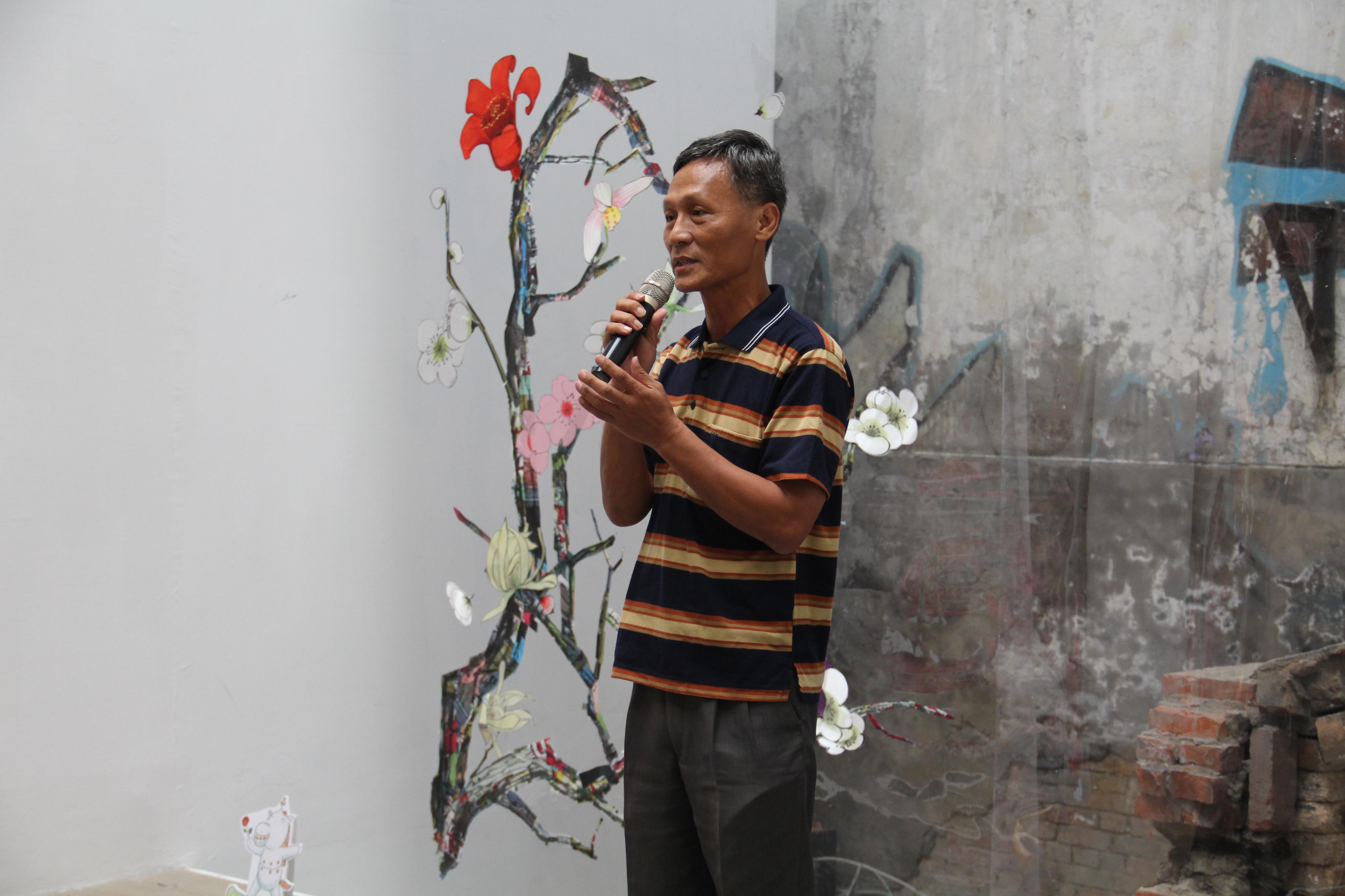 美麗台灣關懷協會常務理事姜樂義認為只要懷著夢與理想,就可以做出成功的作品。 攝影/蘇媚