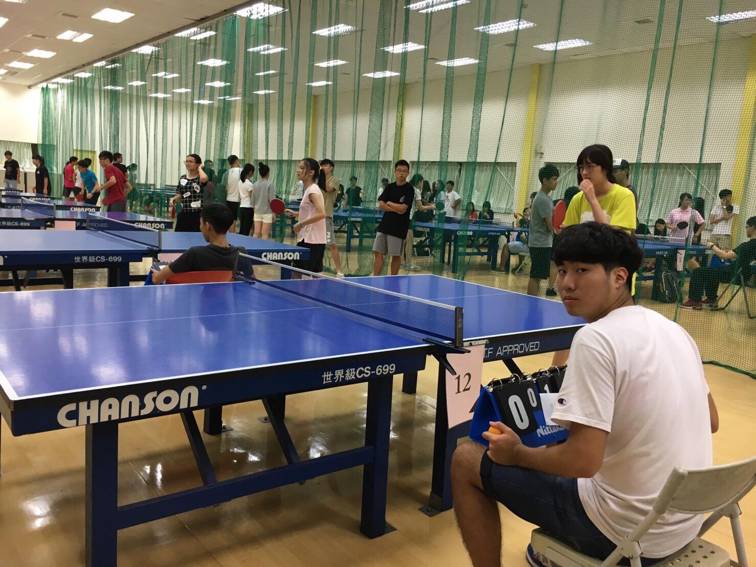 女子組桌球賽現場。照片來源/蔡謹卉