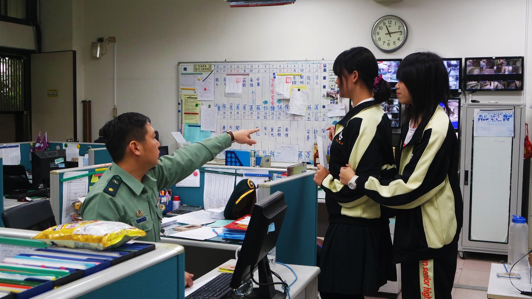 教官在校服務情況。攝影/劉品彣
