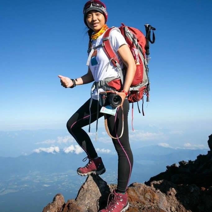王引寧熱愛挑戰極限,爬山、登百岳是她從事的項目之一。 圖片提供/王引寧