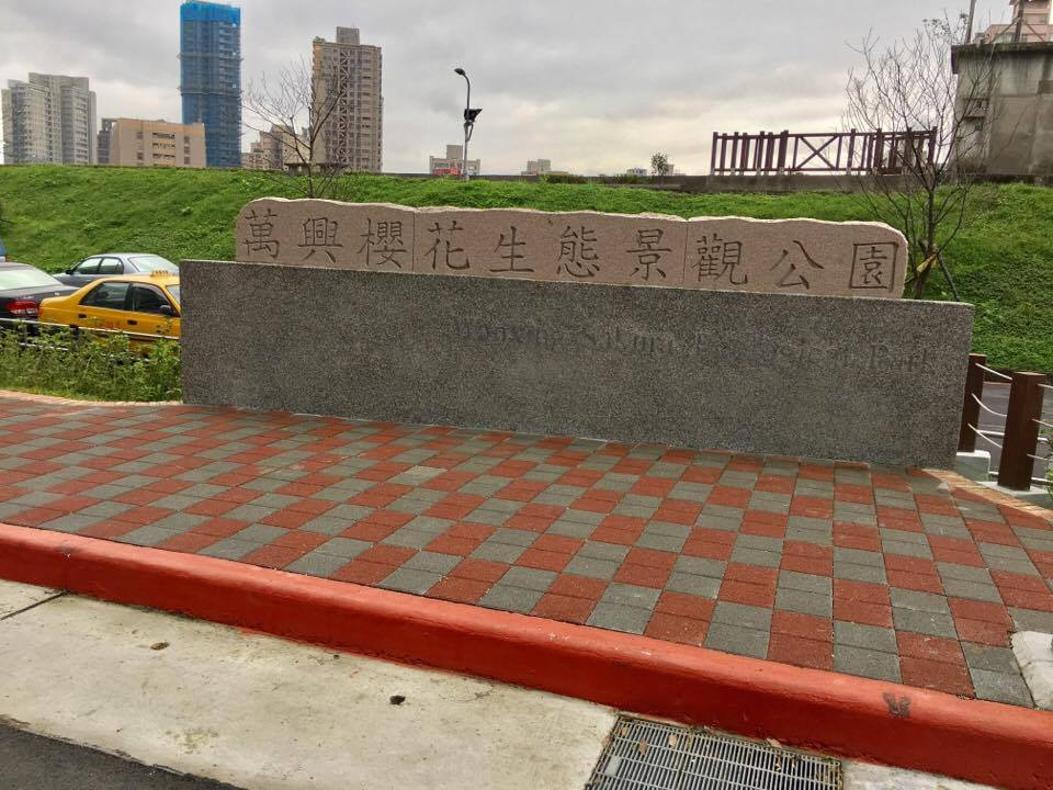 萬興櫻花景觀公園的建置,成為休息的去處之一。攝影/劉蕙瑀