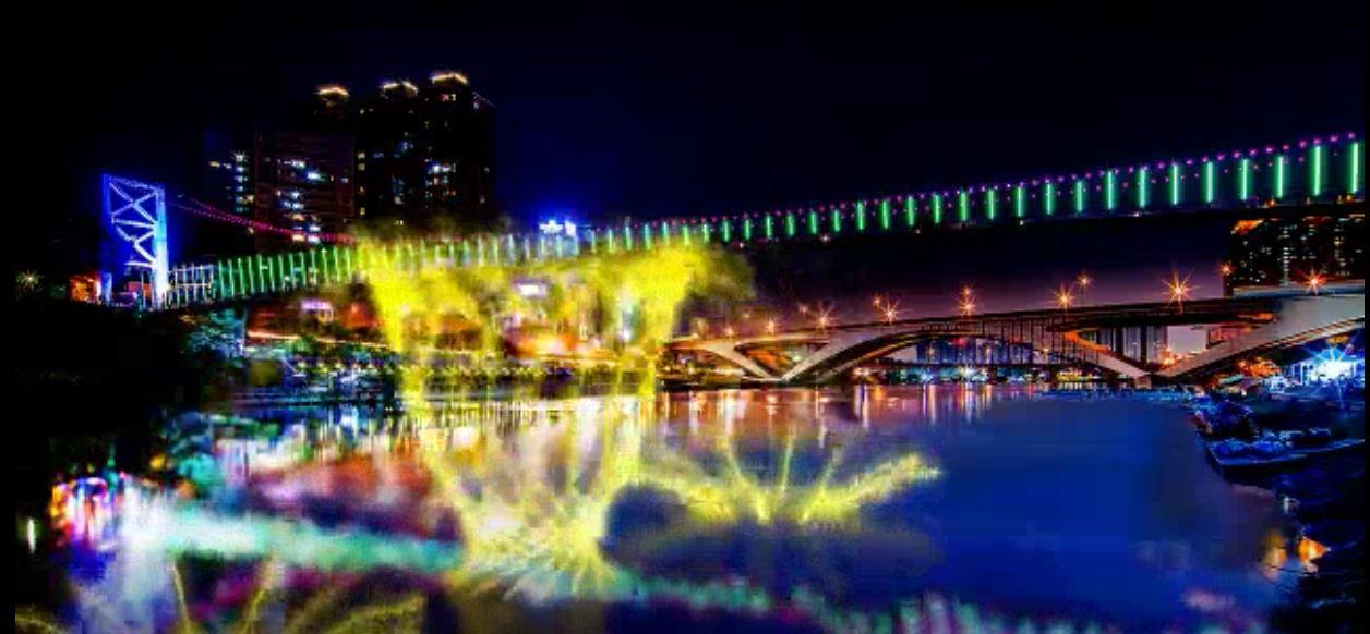 碧潭水舞燈光秀模擬示意圖。新北市政府觀光旅遊局/照片提供