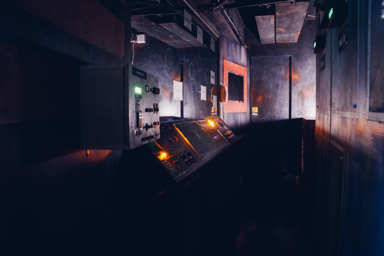 以太空船為主題的密室場景。攝影/潘姿穎