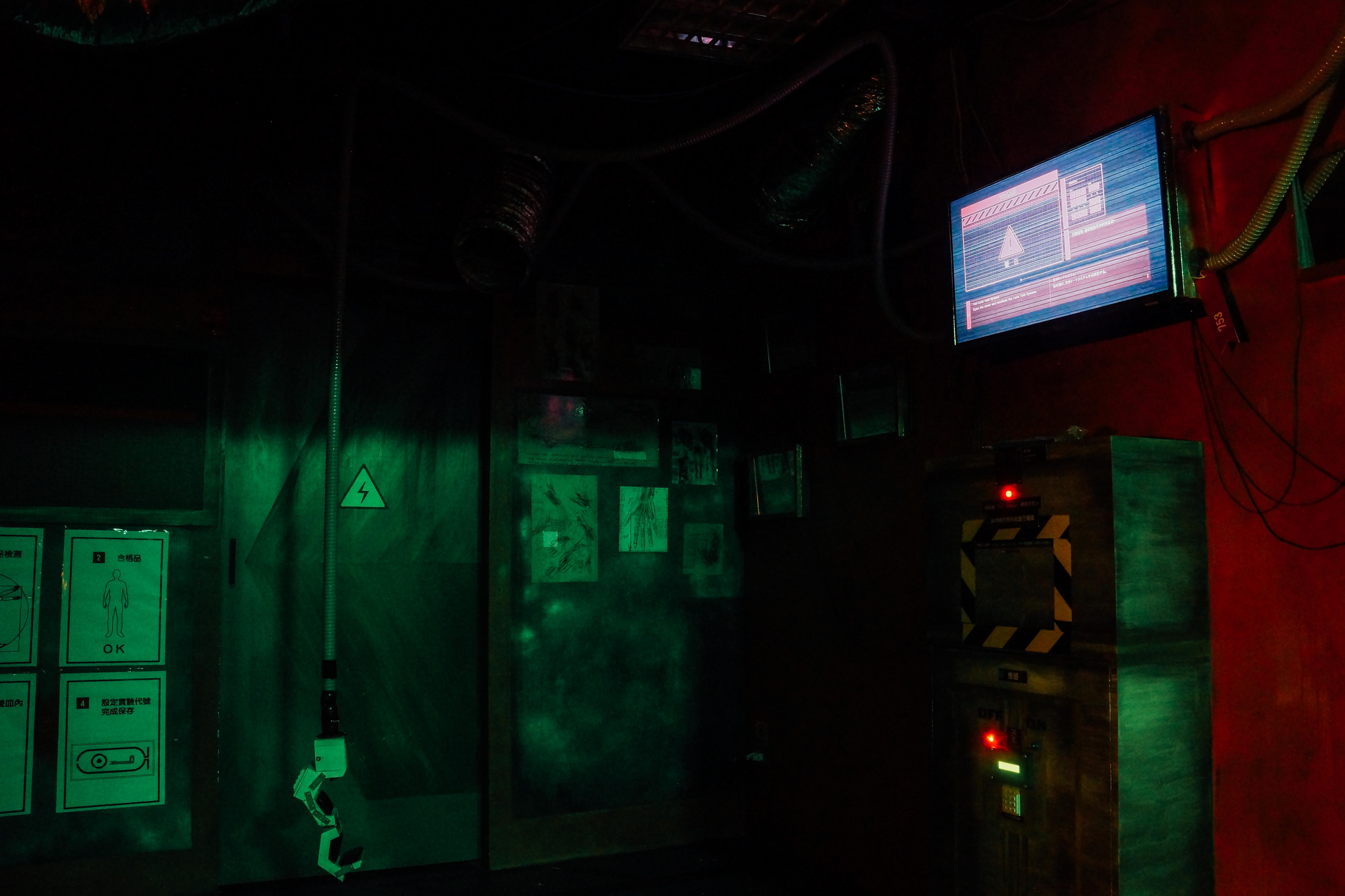 太空主題場景甚至會模擬缺氧危機。攝影/潘姿穎