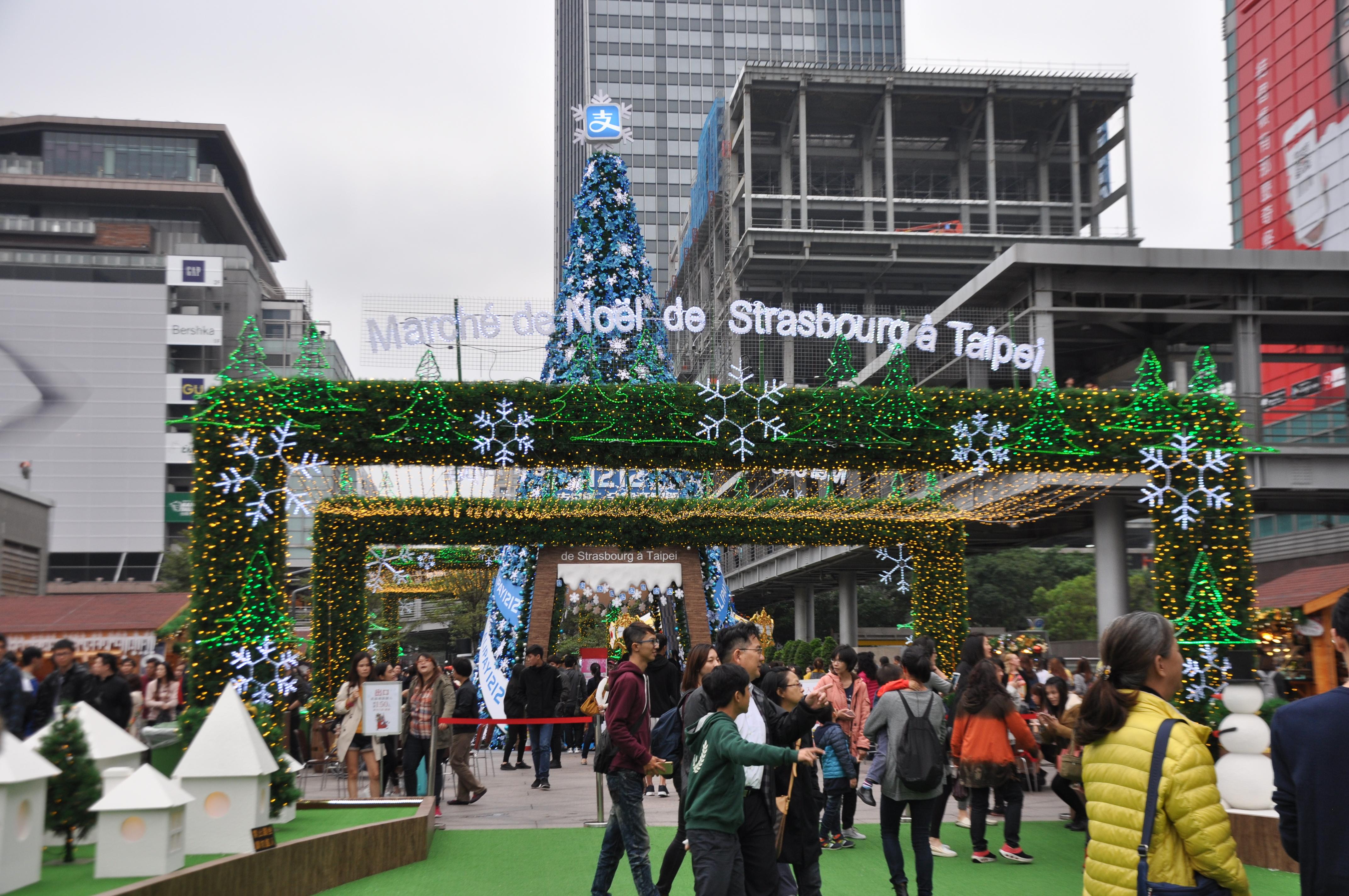 史特拉斯堡聖誕市集來台舉辦。攝影/李玟逸