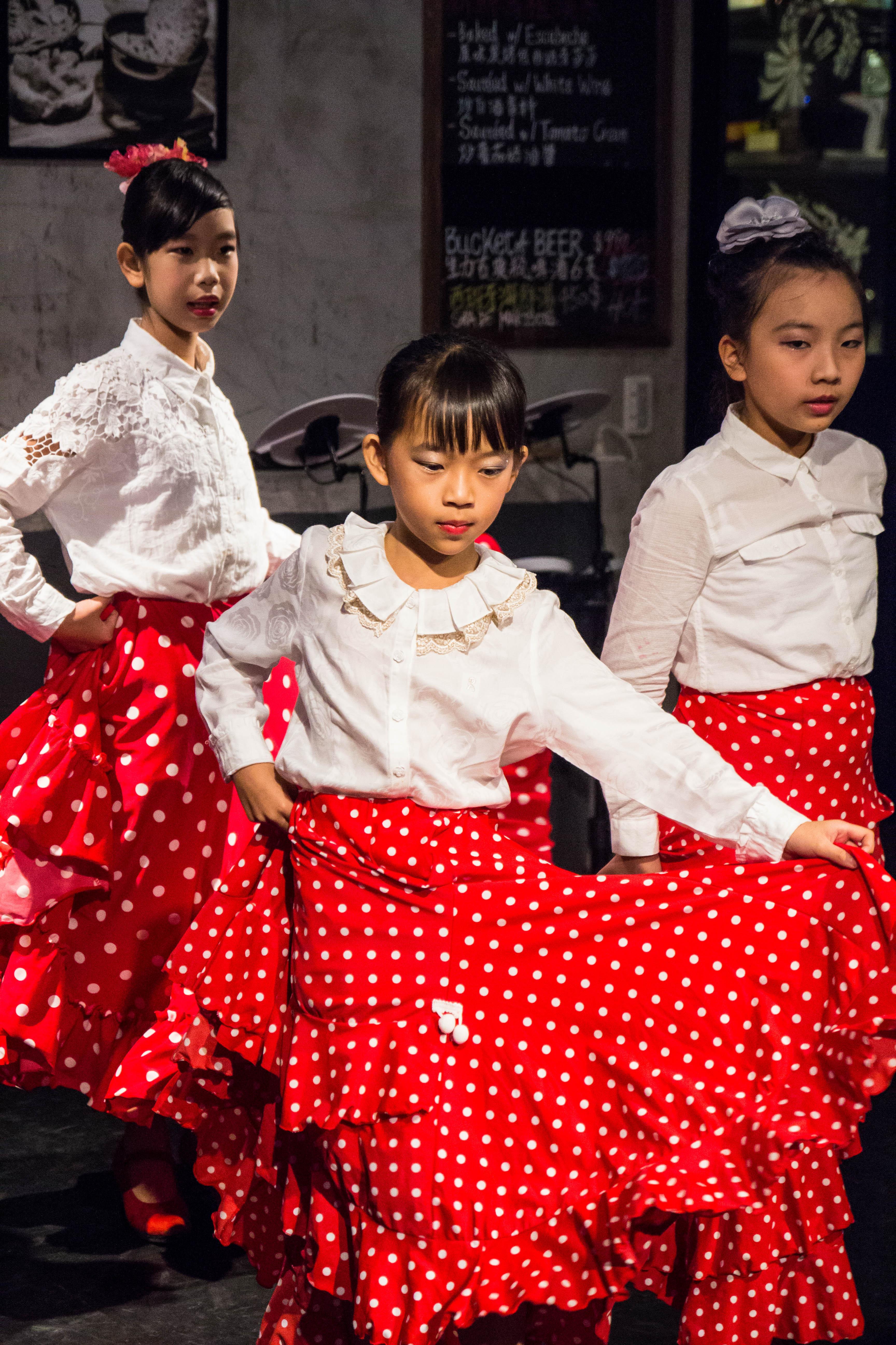 舞會現場由國北教大實小及大豐國小學生共同完成演出佛朗明哥舞蹈表演。攝影/高子涵