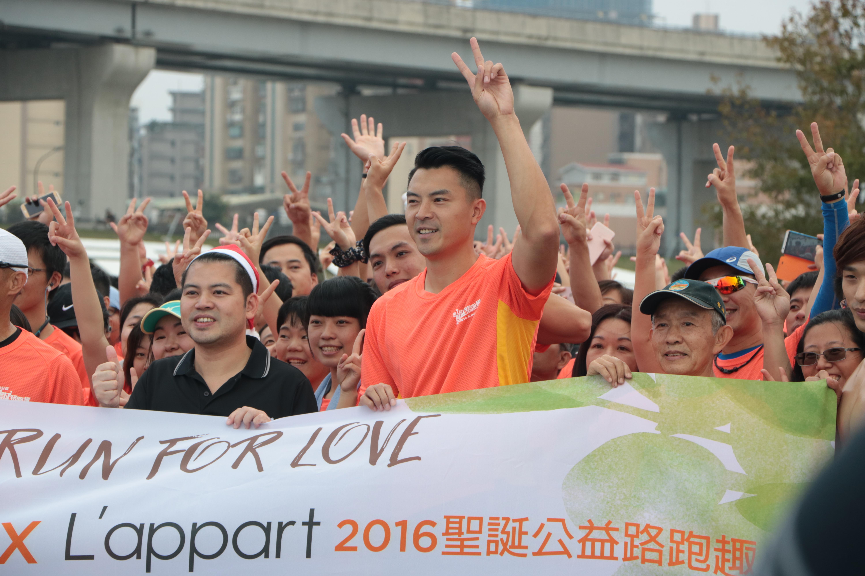 Sean Chen (陳信安) is an ambassador of Christmas Charity Road Running. Photo/ Tsou, Fang-ting