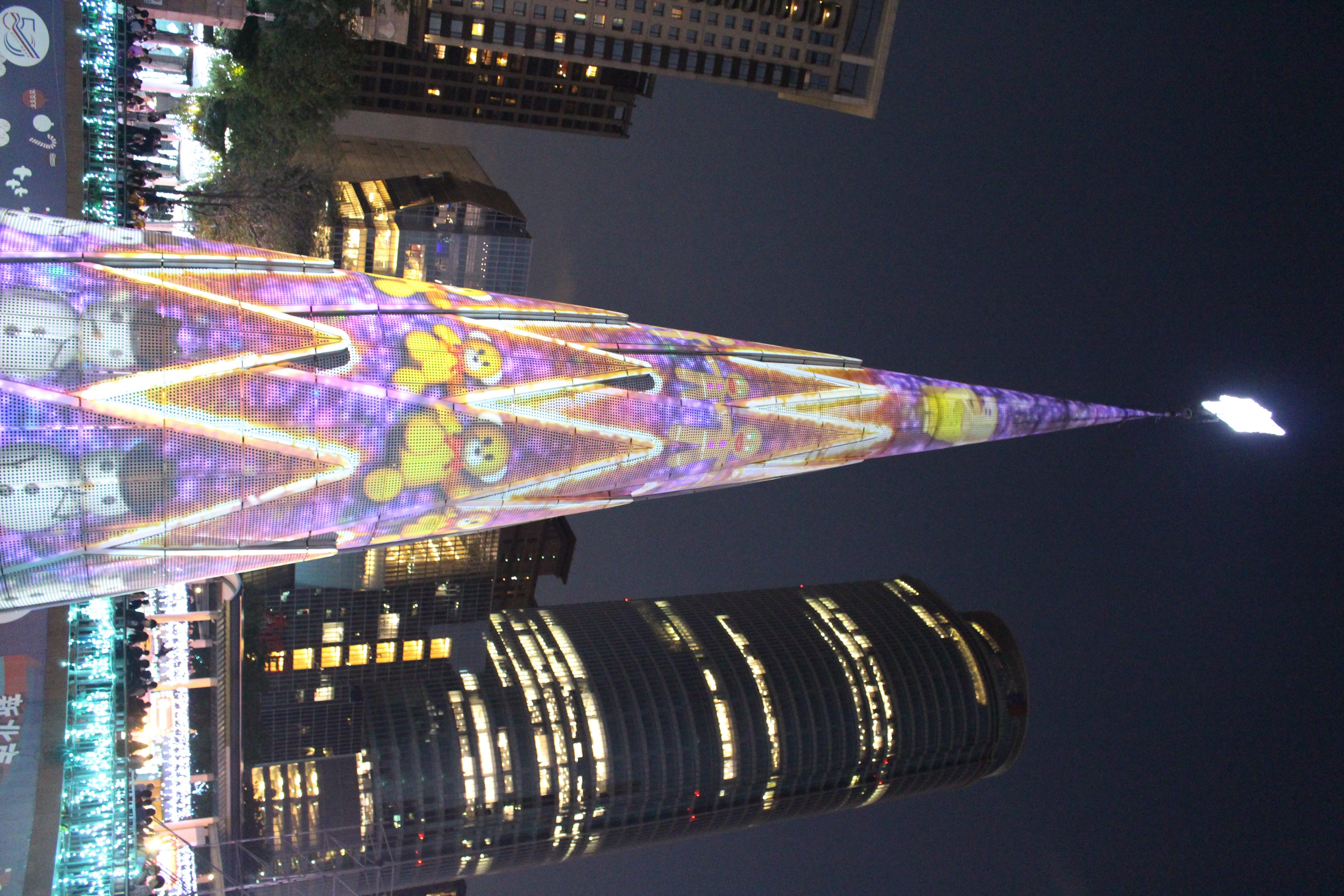 The 360-degree 3D label flash Christmas tree. Photo/Hu, Fan(胡凡)