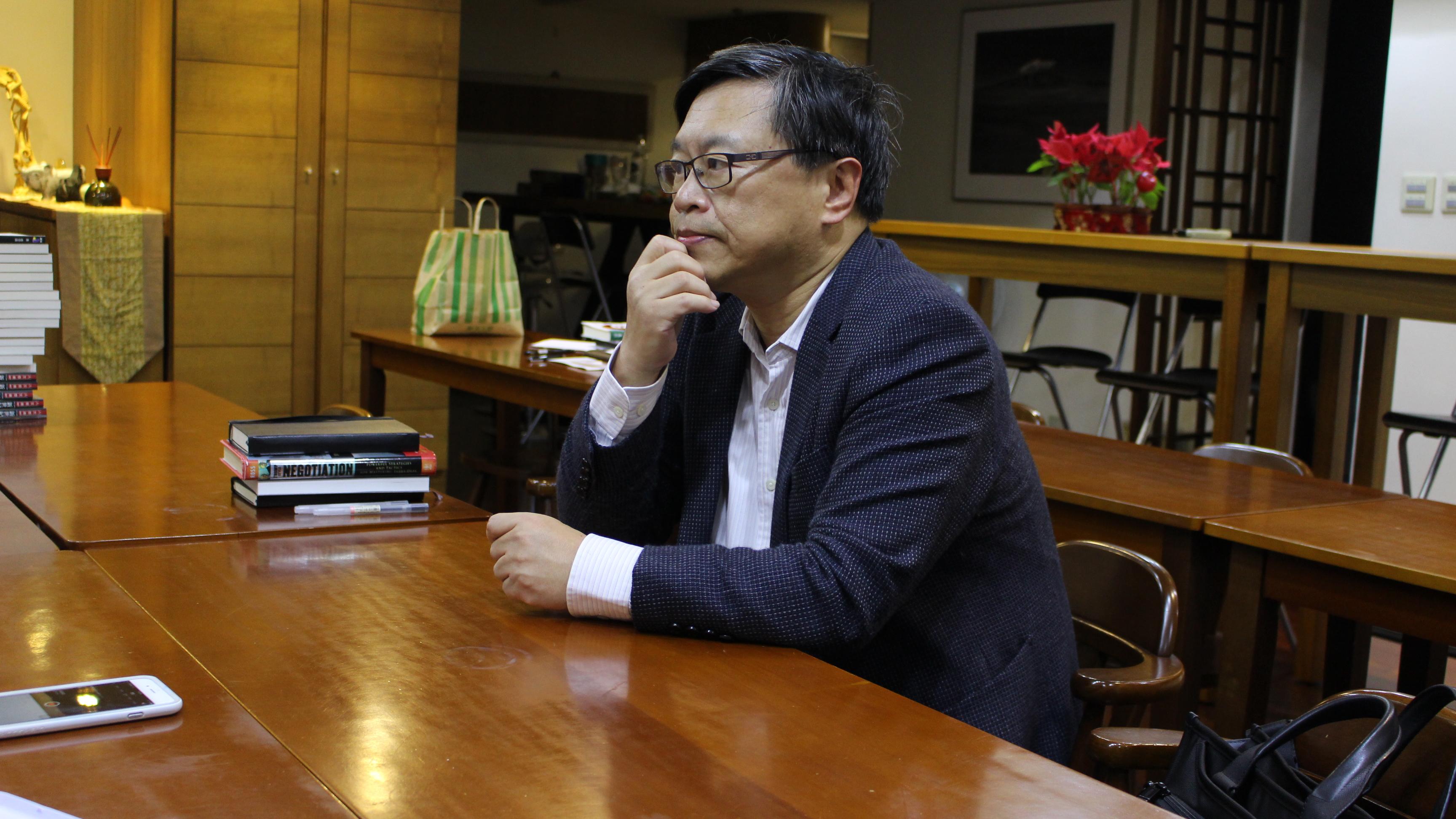 ▲東吳大學政治系劉必榮教授淺談台灣國際新聞現況及過去至今所觀察的演變。